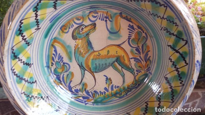 Antigüedades: antiguo lebrillo de triana , pintado a mano - Foto 9 - 98743491