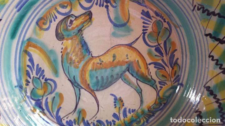 Antigüedades: antiguo lebrillo de triana , pintado a mano - Foto 10 - 98743491