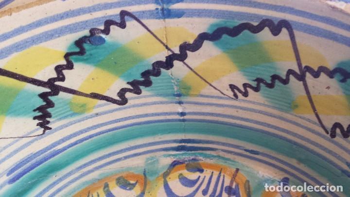 Antigüedades: antiguo lebrillo de triana , pintado a mano - Foto 11 - 98743491
