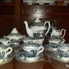 Antigüedades: ANTIGUO JUEGO DE CAFE , SELLADO LA CARTUJA. Lote 98743783