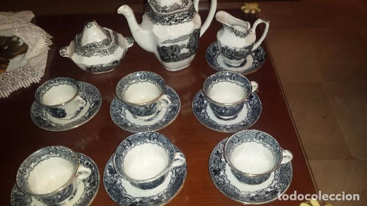 Antigüedades: antiguo juego de cafe , sellado la cartuja - Foto 2 - 98743783