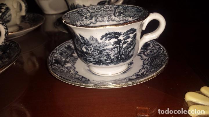 Antigüedades: antiguo juego de cafe , sellado la cartuja - Foto 3 - 98743783