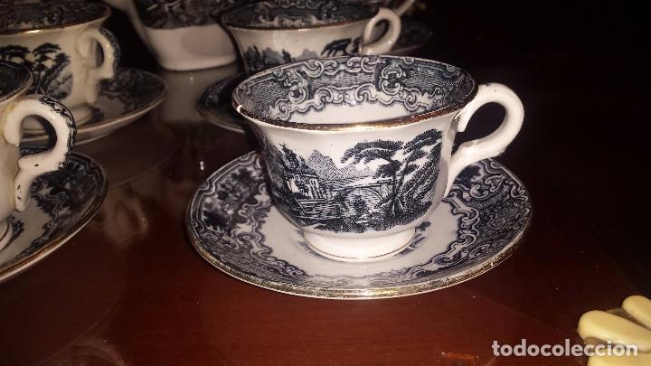 Antigüedades: antiguo juego de cafe , sellado la cartuja - Foto 4 - 98743783