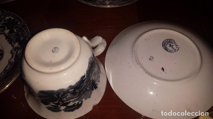 Antigüedades: antiguo juego de cafe , sellado la cartuja - Foto 5 - 98743783
