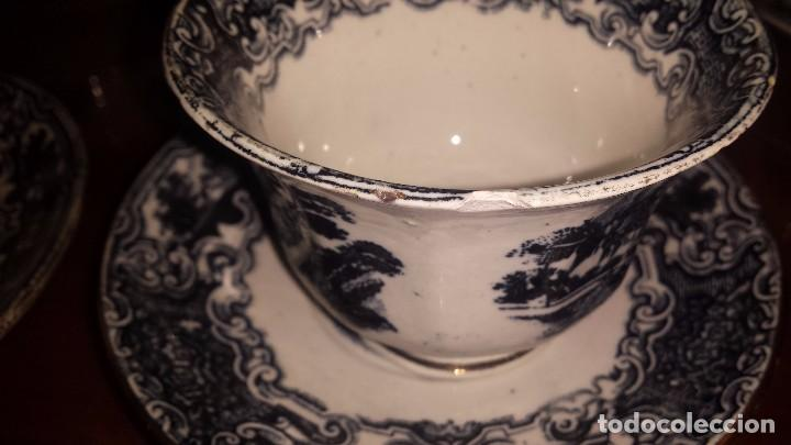 Antigüedades: antiguo juego de cafe , sellado la cartuja - Foto 7 - 98743783