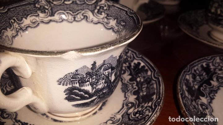 Antigüedades: antiguo juego de cafe , sellado la cartuja - Foto 8 - 98743783