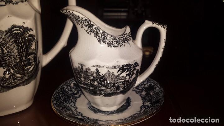 Antigüedades: antiguo juego de cafe , sellado la cartuja - Foto 9 - 98743783