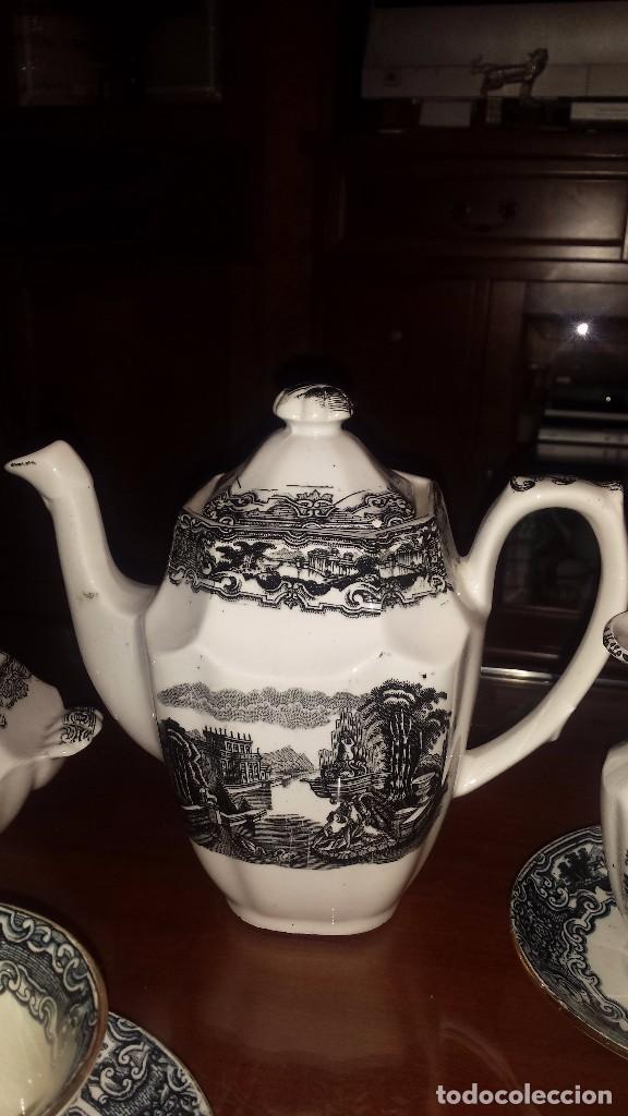 Antigüedades: antiguo juego de cafe , sellado la cartuja - Foto 10 - 98743783