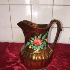 Antigüedades: FABULOSA JARRA DE BRISTOL REFLEJO DORADO. Lote 98784332
