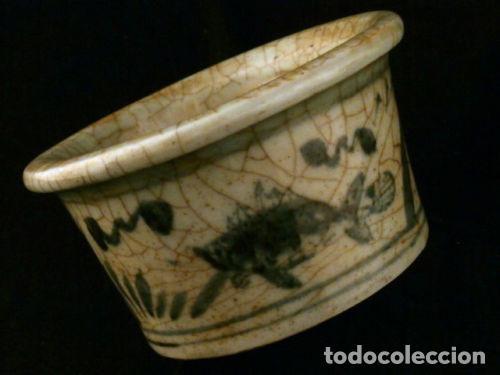 CUENCO DE PORCELANA CHINA. SIGLO 18 , DINASTIA MING, FIRMADO, PECES (Antigüedades - Porcelanas y Cerámicas - China)
