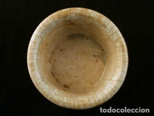 Antigüedades: Cuenco de porcelana China. Siglo 18 , DINASTIA MING, Firmado, Peces - Foto 2 - 98784523