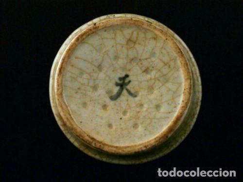 Antigüedades: Cuenco de porcelana China. Siglo 18 , DINASTIA MING, Firmado, Peces - Foto 3 - 98784523