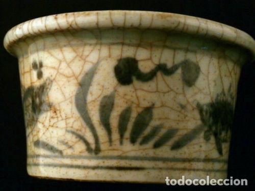 Antigüedades: Cuenco de porcelana China. Siglo 18 , DINASTIA MING, Firmado, Peces - Foto 5 - 98784523