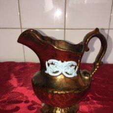 Antigüedades: HERMOSA JARRA DE BRISTOL REFLEJO DORADO. Lote 98785444