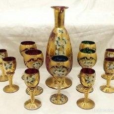 Antigüedades: SERVICIO DE LICOR DE CRISTAL DE MURANO.. Lote 98793251