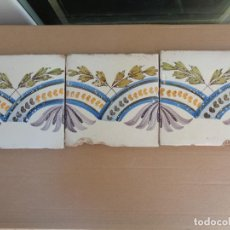 Antigüedades: TRES AZULEJOS XENEFA.VALENCIA SIGLO XVIII-XIX.REFª11. Lote 98805195