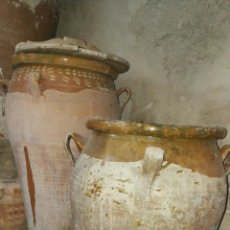 Antigüedades: LOTE DE 4 ORZAS TÍPICAS DE LA MANCHA. 70 CM X 40 CM. Lote 98816366
