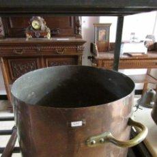 Antigüedades: OLLA DE COBRE CON ASAS DE BRONCE #. Lote 98825871