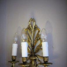 Antigüedades: PRECIOSA PAREJA DE APLIQUES. Lote 98841067