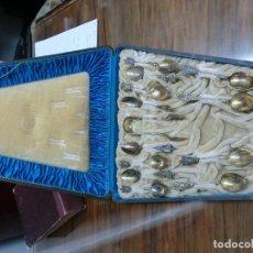 Antigüedades: PRECIOSO JUEGO DE CUCHARILLAS DE PLATA DE LEY SIGLO XIX . Lote 98843955