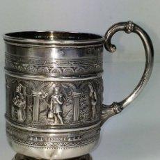 Antigüedades: TAZA PARA BAUTISMO DE NIÑOS. PLATA STERLING. JAMES REID CO. GLASGOW. GRAN BRETAÑA1888. Lote 98852055