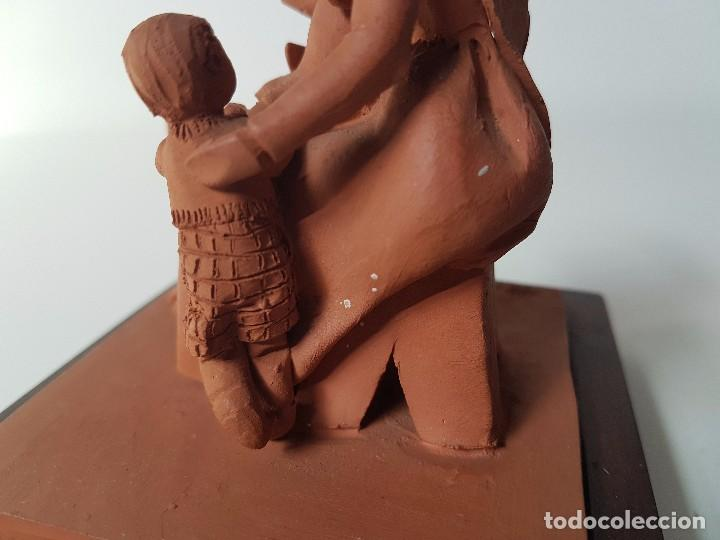 Antigüedades: FIGURA EN TERRACOTA ( FIRMA MONTSERRAT OLIVER ) - Foto 11 - 98860195