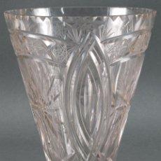 Antiquitäten - Jarrón centro de mesa cristal tallado tipo Baccarat años 60 - 98862455