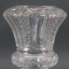 Antiquitäten - Jarrón centro de mesa cristal tallado tipo Baccarat años 60 - 98862663