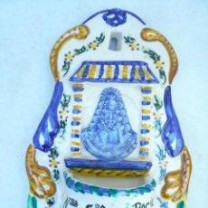 Antigüedades: BENDITERA NUESTRA SEÑORA DEL ROCÍO. Lote 98890063