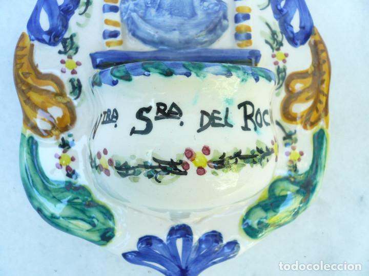 Antigüedades: BENDITERA NUESTRA SEÑORA DEL ROCÍO - Foto 3 - 98890063