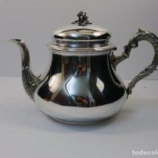 Antigüedades: CAFETERA EN PLATA LEY MARCADO CON CONTRASTE . Lote 98890459