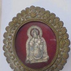 Antigüedades: RELICARIO ANTIGUO. ORIGINAL. BUEN ESTADO. COMPRADO EN UNA CASA. 18 X 21CM. VIRGEN DE LOS REMEDIOS. Lote 98917859