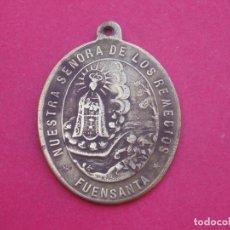 Antigüedades: MEDALLA SIGLO XIX VIRGEN DE LOS REMEDIOS. FUENSANTA. ALBACETE. MUY RARA.. Lote 98981723