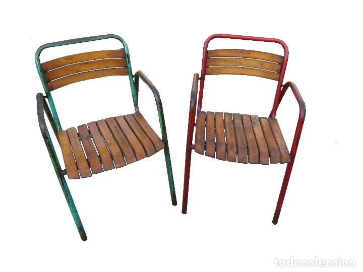 Lote de sillas terraza comprar sillas antiguas en todocoleccion 100477864 - Sillas terraza segunda mano ...