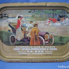 Antigüedades: ANTIGUA BANDEJA AUTOMOBILE CLUB DI MILANO 40X29 CM. Lote 99020675