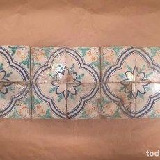 Antigüedades: CONJUNTO DE AZULEJOS POLICROMADOS DEL SIGLO XVIII. Lote 99054047
