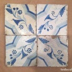 Antigüedades: AZULEJOS POLICROMADOS DEL SIGLO XVIII. Lote 99055183