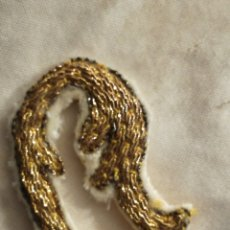 Antigüedades: PIEZAS DE BORDADO EN ORO S.XIX. Lote 99061692