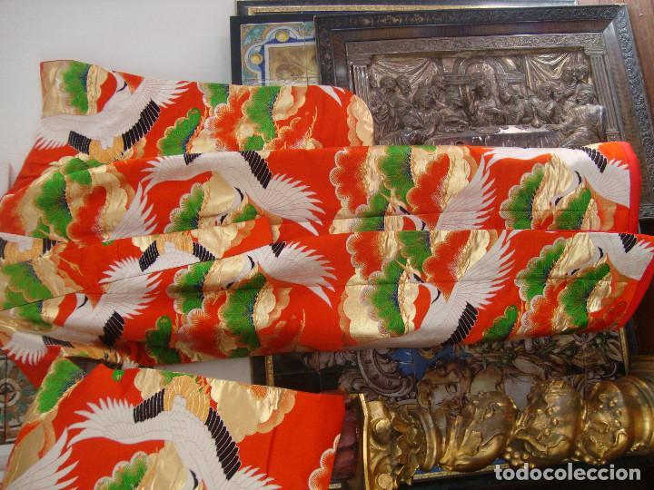 Antigüedades: Kimono Japones seda bordado (UchiKake) - Foto 2 - 99066683