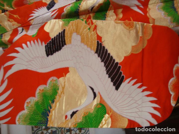 Antigüedades: Kimono Japones seda bordado (UchiKake) - Foto 3 - 99066683
