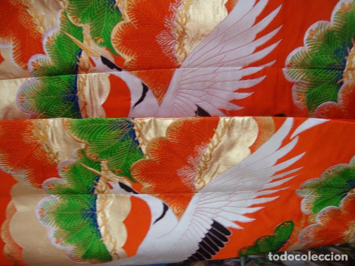 Antigüedades: Kimono Japones seda bordado (UchiKake) - Foto 4 - 99066683