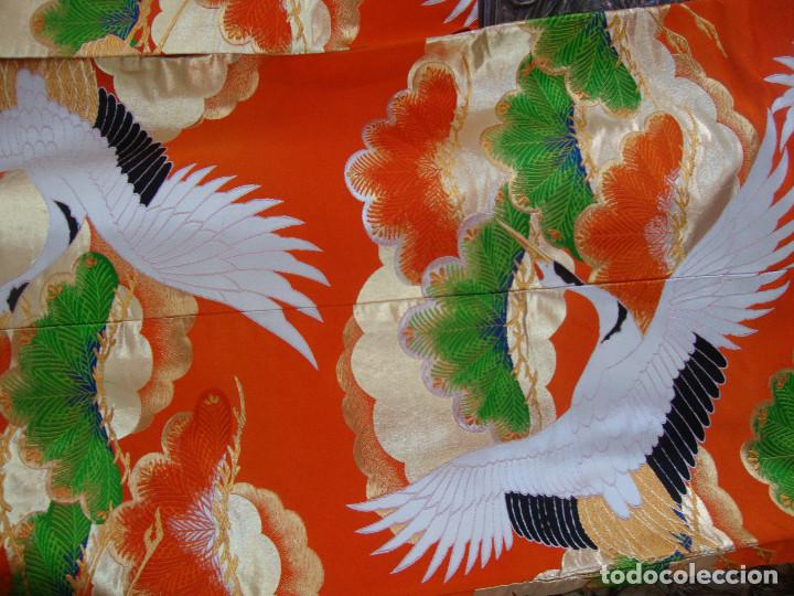 Antigüedades: Kimono Japones seda bordado (UchiKake) - Foto 5 - 99066683