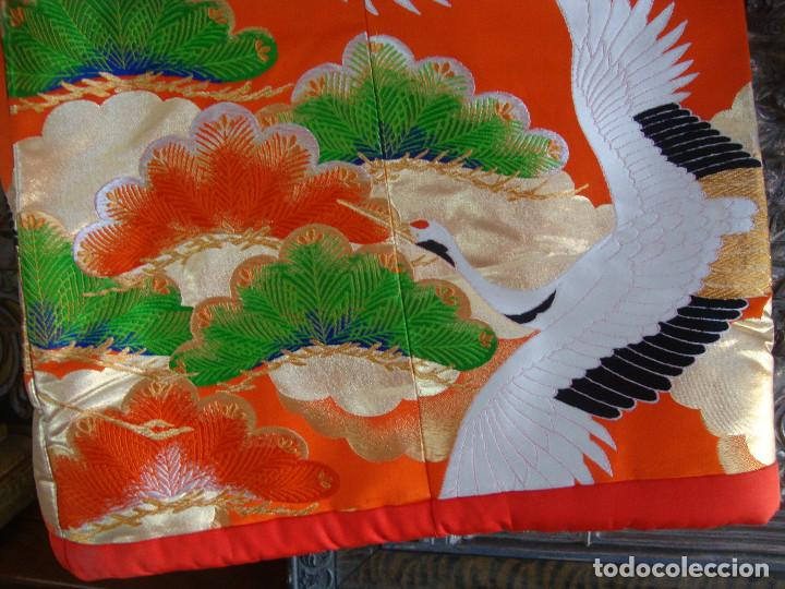 Antigüedades: Kimono Japones seda bordado (UchiKake) - Foto 6 - 99066683