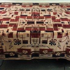 Antigüedades: TAPIZ-TAPETE. TERCIOPELO MECÁNICO DE RAYÓN. ESTILO ART DÉCO. ESPAÑA. CIRCA 1950. Lote 99069211
