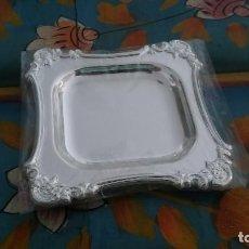 Antigüedades: BANDEJITA DE PLATA NUEVA.. Lote 99081883