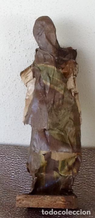 Antigüedades: PAPEL MACHÉ O CARTON PIEDRA. FIGURA - LAVANDERA - ENVIO CERTIFICADO INCLUIDO EN EL PRECIO. - Foto 2 - 99094287