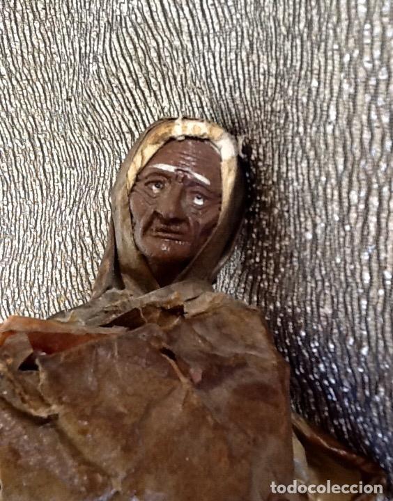 Antigüedades: PAPEL MACHÉ O CARTON PIEDRA. FIGURA - LAVANDERA - ENVIO CERTIFICADO INCLUIDO EN EL PRECIO. - Foto 4 - 99094287