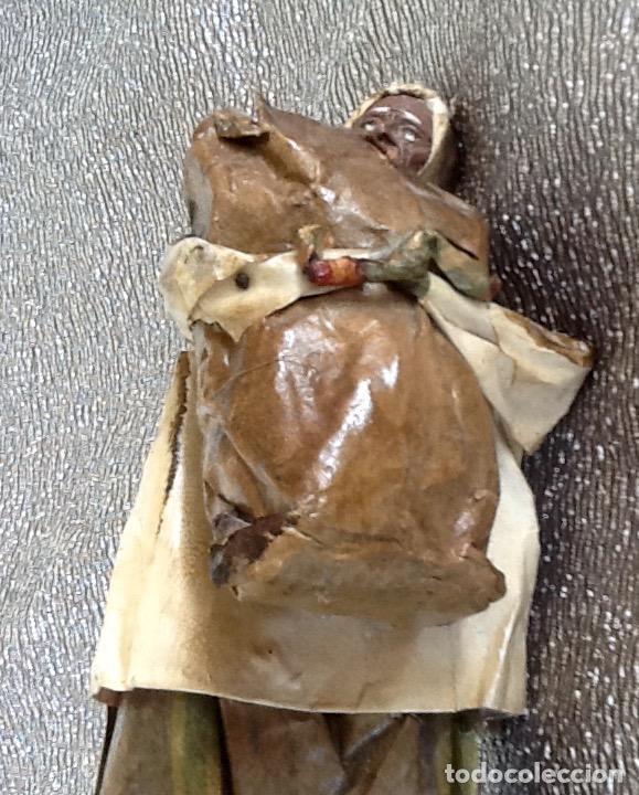 Antigüedades: PAPEL MACHÉ O CARTON PIEDRA. FIGURA - LAVANDERA - ENVIO CERTIFICADO INCLUIDO EN EL PRECIO. - Foto 5 - 99094287