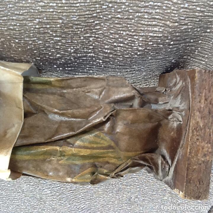 Antigüedades: PAPEL MACHÉ O CARTON PIEDRA. FIGURA - LAVANDERA - ENVIO CERTIFICADO INCLUIDO EN EL PRECIO. - Foto 6 - 99094287