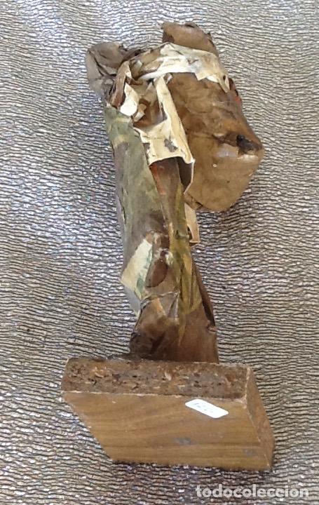 Antigüedades: PAPEL MACHÉ O CARTON PIEDRA. FIGURA - LAVANDERA - ENVIO CERTIFICADO INCLUIDO EN EL PRECIO. - Foto 7 - 99094287